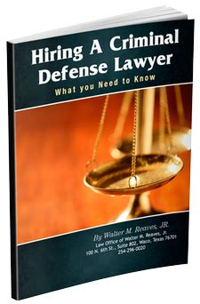 Criminal Defense Attorney Cover Letter